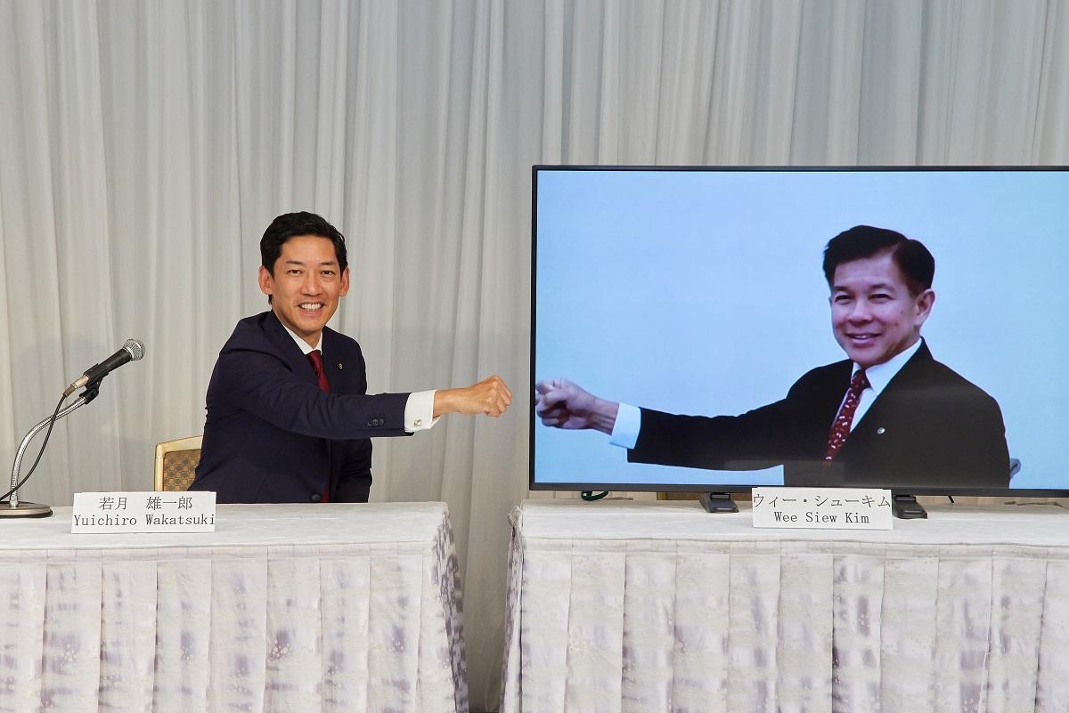 若月雄一郎 ウィー・シューキム 代表執行役共同社長