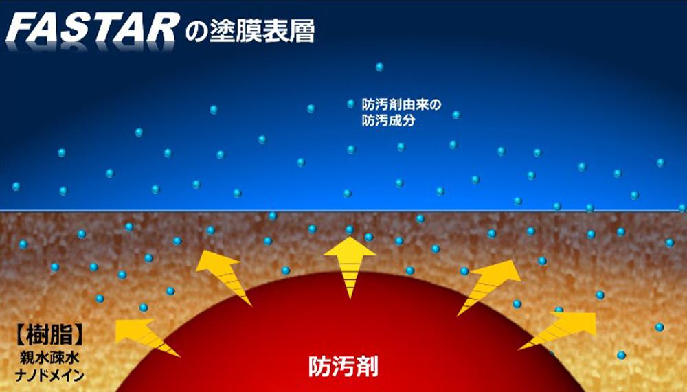 FASTARの塗膜表層