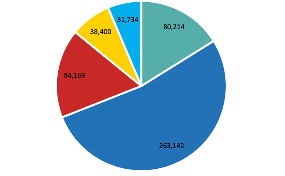Revenue composition by region