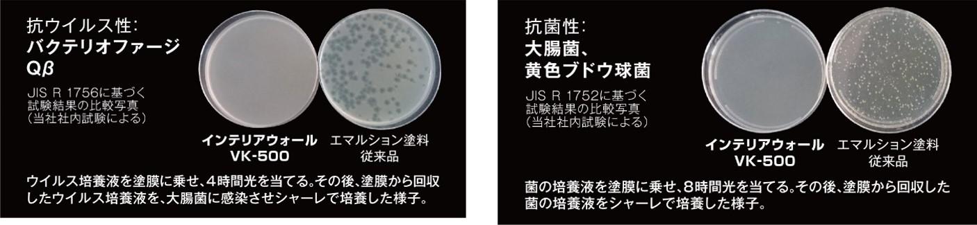 抗ウイルス・抗菌試験結果