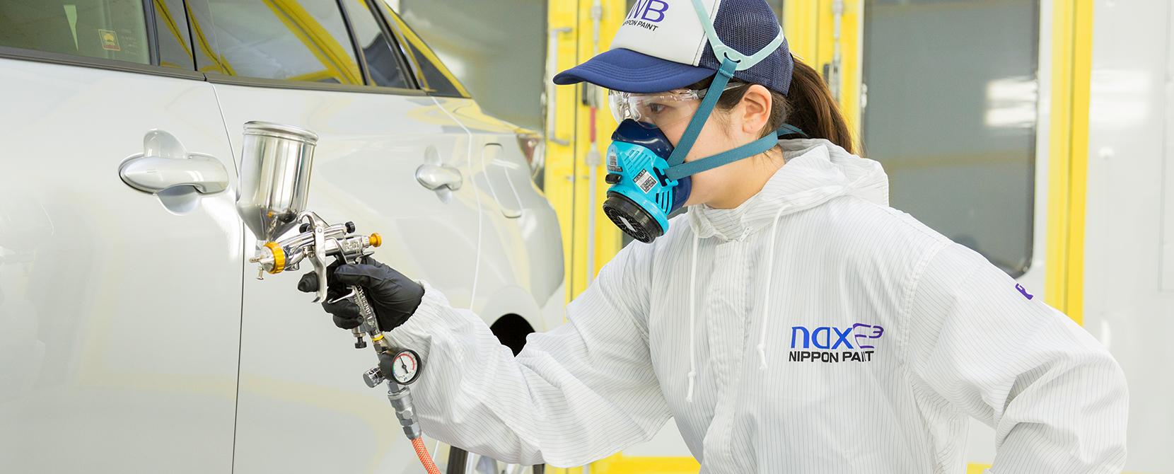 塗装時間短縮を可能にする水性塗料用粘性制御技術