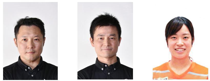 三原孝博監督と池袋晴彦コーチと打浪優選手
